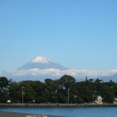 大瀬から見た富士山