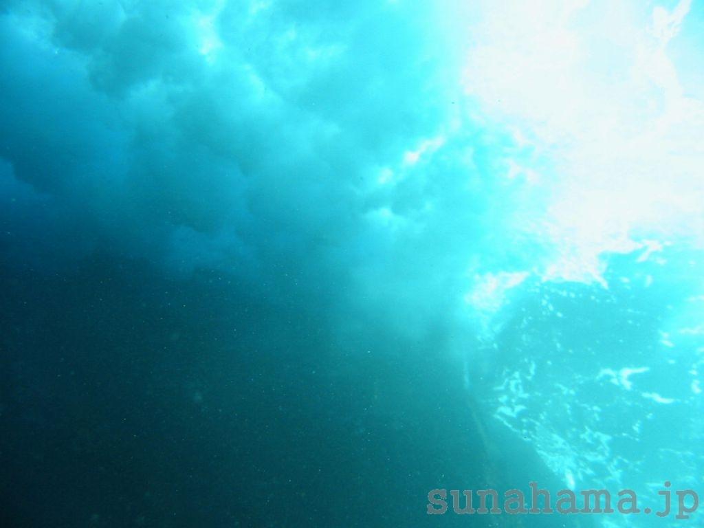 水中から見た波 1024×768